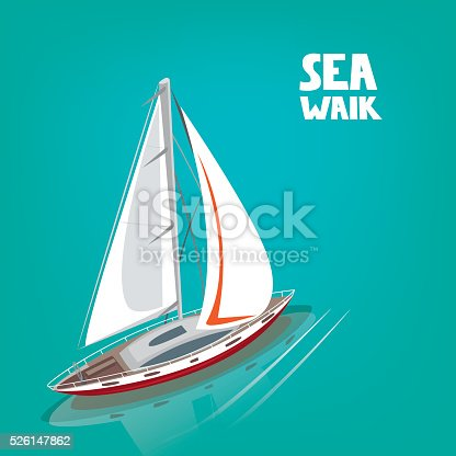 istock Unusual view from above on a sailing yacht 526147862