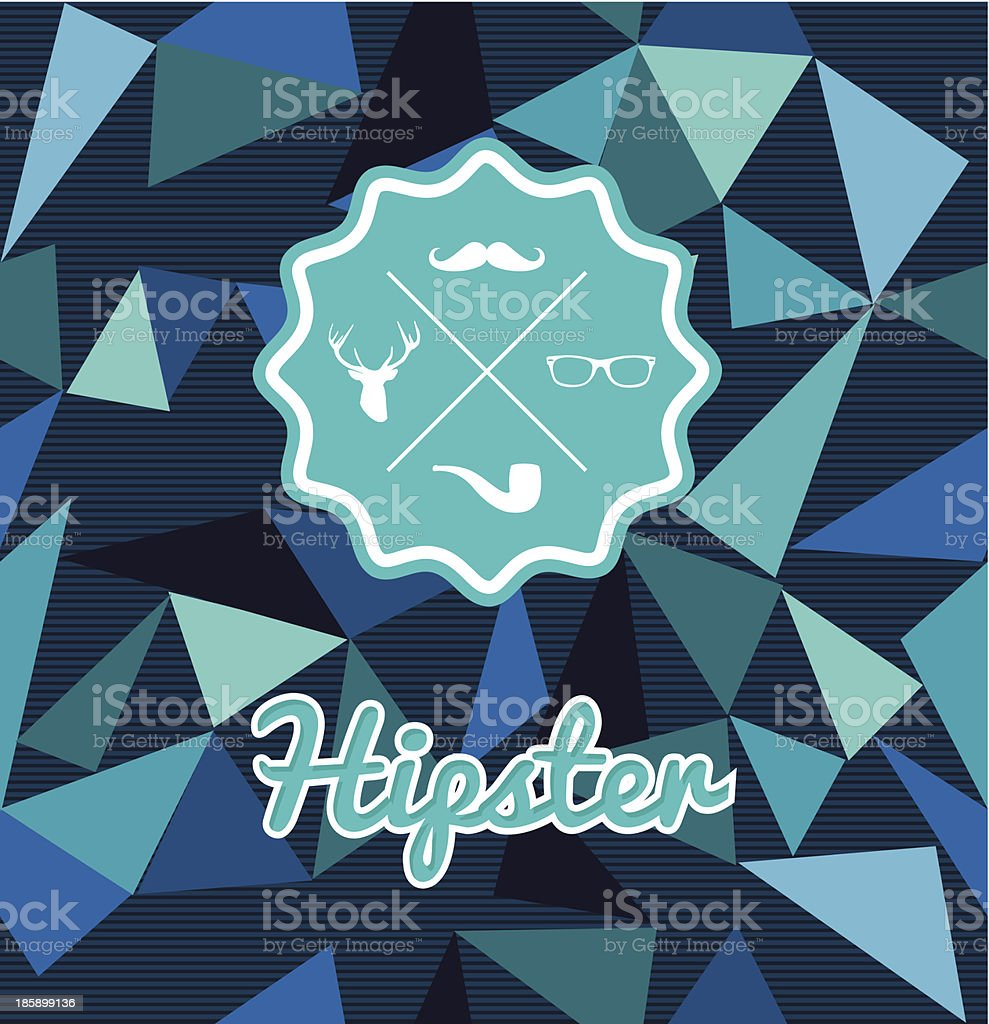 Unusual vintage Hipster label icons elements seamless pattern background. royalty-free stock vector art
