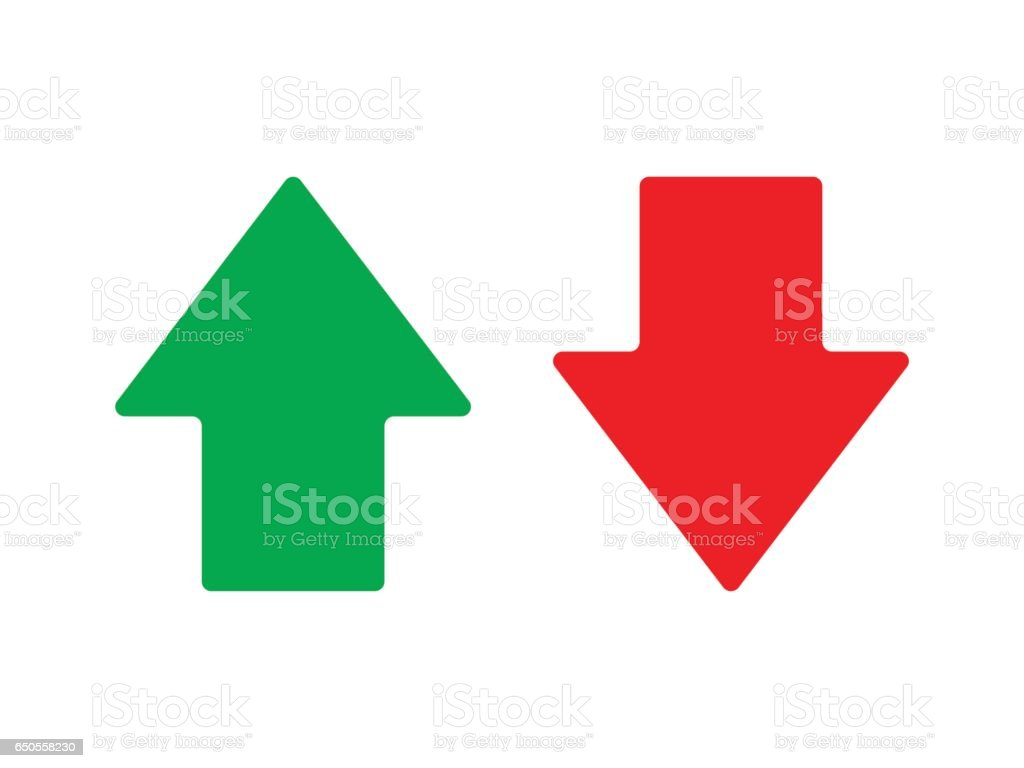 Up and down arrow vector vector art illustration