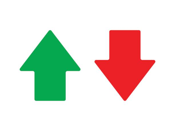 Royalty Free Up Down Arrows Red Green Clip Art, Vector ...