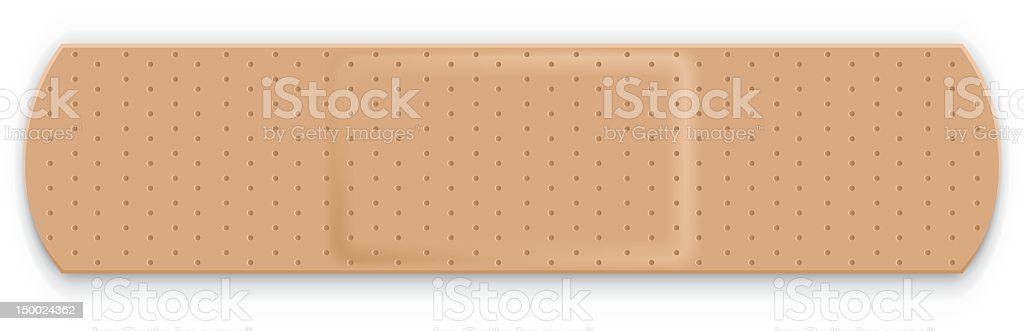 Up close photo of adhesive bandage in landscape orientation vector art illustration