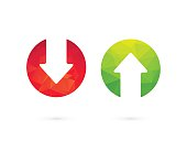 Up down arrows red green
