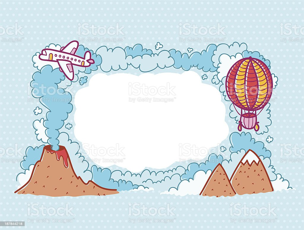 Up in the sky royalty-free stock vector art