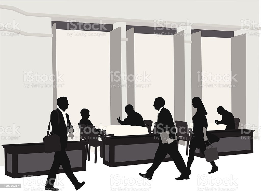 Up Selling Vector Silhouette royalty-free stock vector art