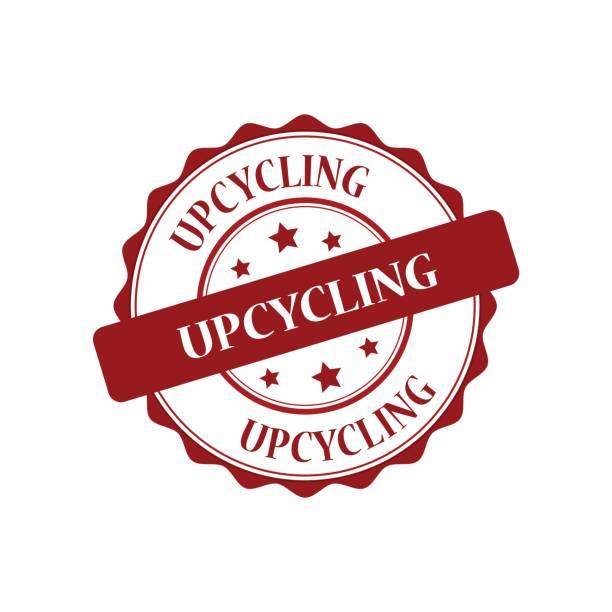 upcycling roten stempel abbildung - upcycling stock-grafiken, -clipart, -cartoons und -symbole