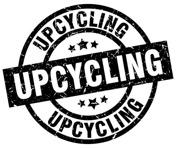 upcycling runde schwarz grunge-stempel - upcycling stock-grafiken, -clipart, -cartoons und -symbole