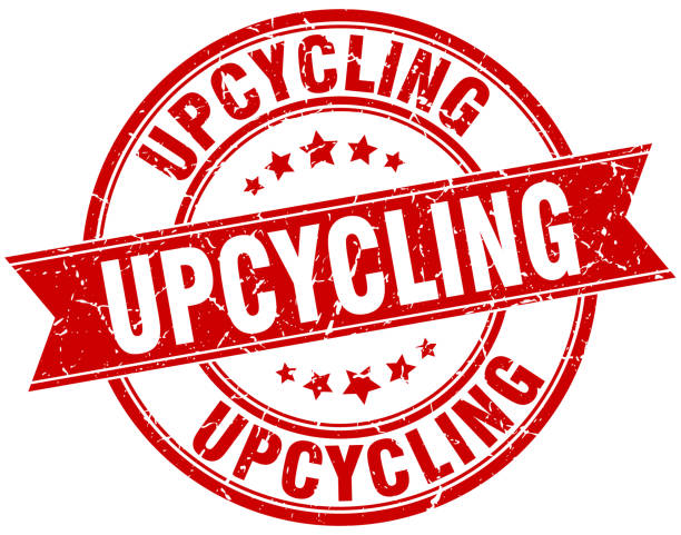 upcycling runde grunge band stempel - upcycling stock-grafiken, -clipart, -cartoons und -symbole