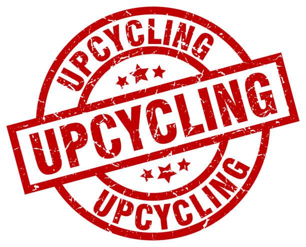 upcycling runden roten grunge-stempel - upcycling stock-grafiken, -clipart, -cartoons und -symbole