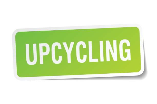 upcycling quadratische aufkleber auf weiß - upcycling stock-grafiken, -clipart, -cartoons und -symbole