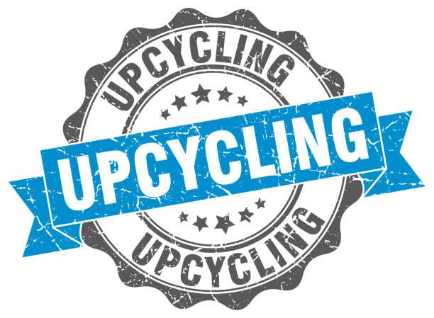 upcycling-stempel. melden sie sich. dichtung - upcycling stock-grafiken, -clipart, -cartoons und -symbole