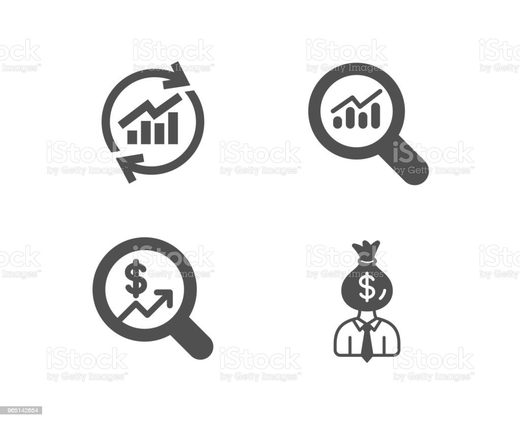 Update data, Data analysis and Currency audit icons. Manager sign. royalty-free update data data analysis and currency audit icons manager sign stock vector art & more images of adult