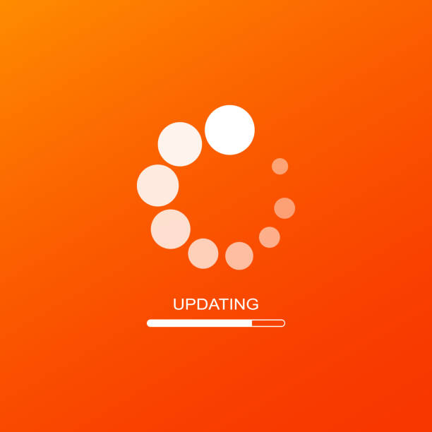 Update icon or software update. Downloading data concept simple design on isolated background. Eps 10 vector Update icon or software update. Downloading data concept simple design on isolated background. Eps 10 vector. software update stock illustrations