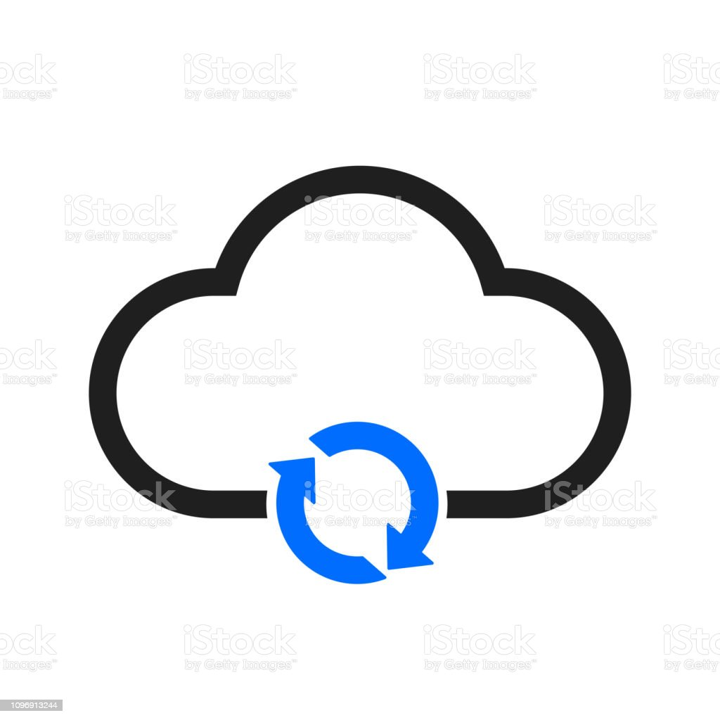 Update simple cloud icon – stock vector