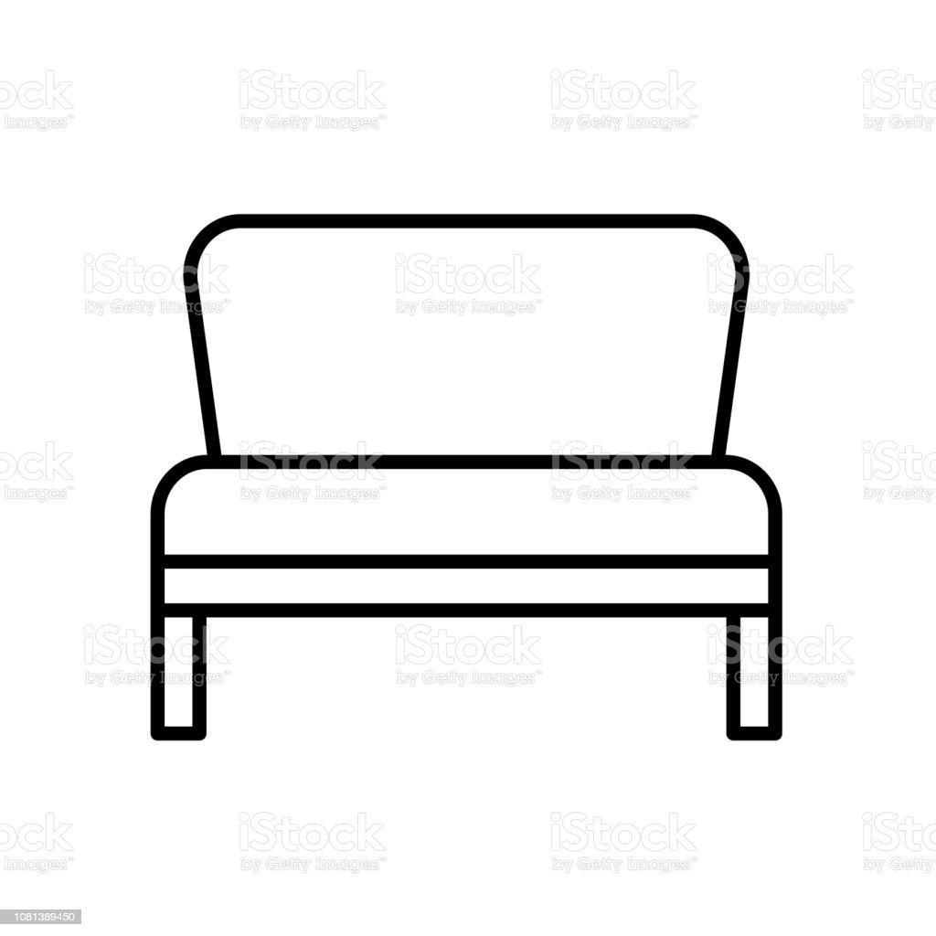Super Upholstered Bench Entryway Patio Furniture Vector Line Icon Forskolin Free Trial Chair Design Images Forskolin Free Trialorg