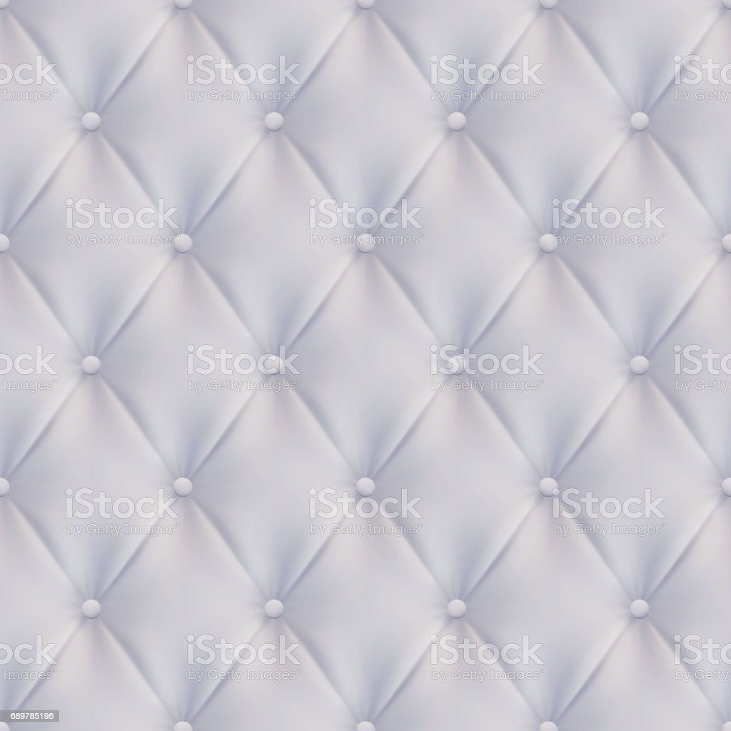 Upholstery rhomb Seamless White vector background, vector art illustration