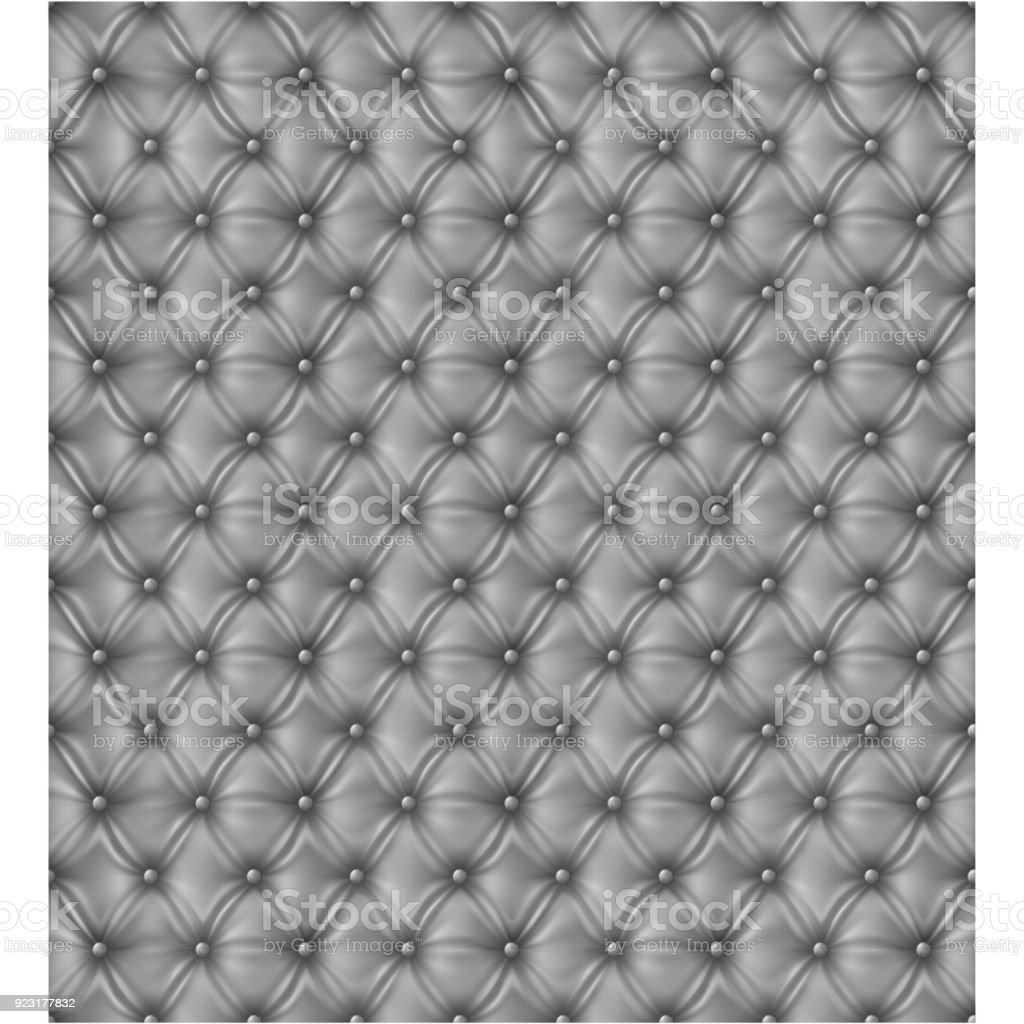 Upholstery Seamless Pattern White Silver Sofa Vector Tile Texture Royalty Free
