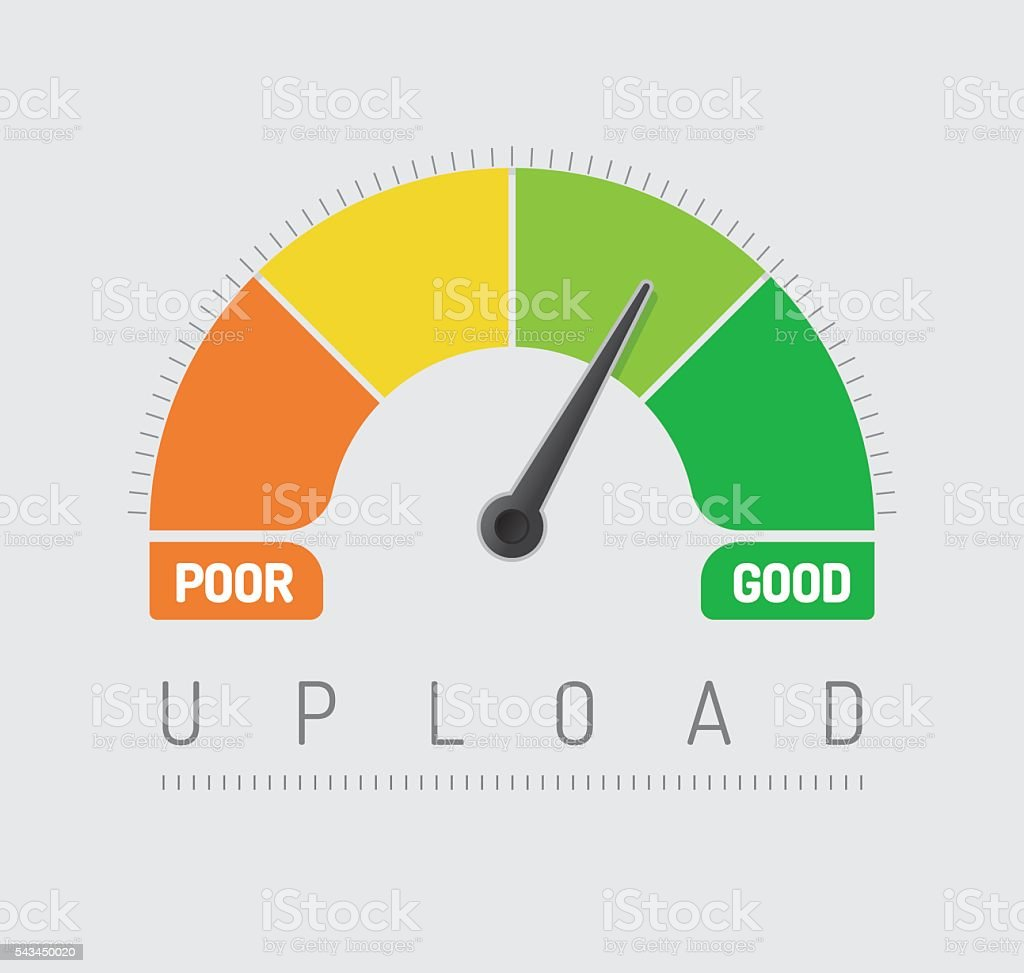 Upload Chart Stock Illustration - Download Image Now - iStock