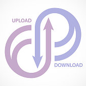 istock Upload & Download Arrows 1253002461