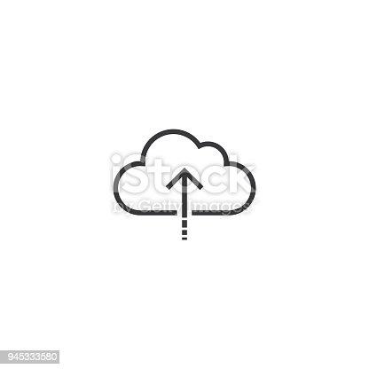 upload Icon. line style vector illustration
