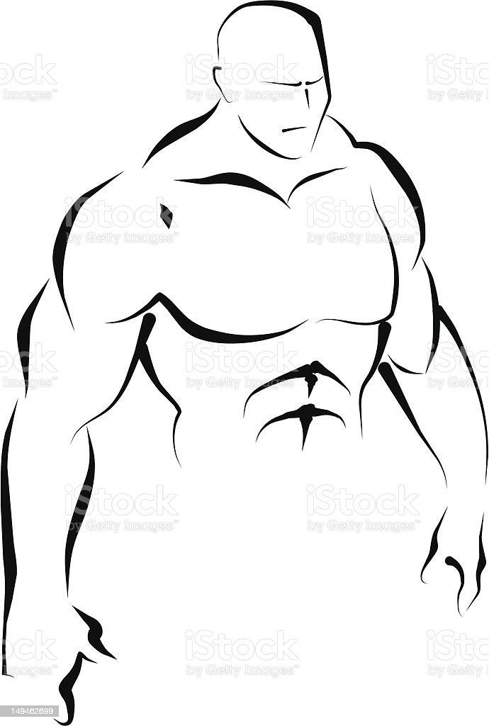 Upper body. Line art. royalty-free upper body line art stock vector art & more images of adult