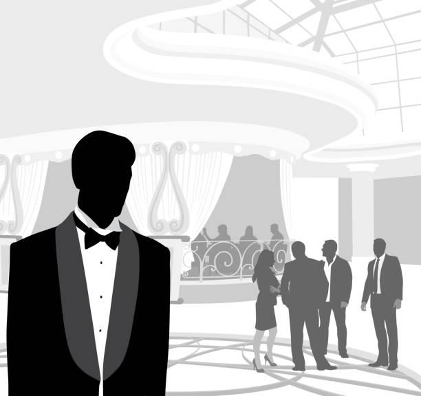 ilustrações de stock, clip art, desenhos animados e ícones de upper class dining hall - smoking