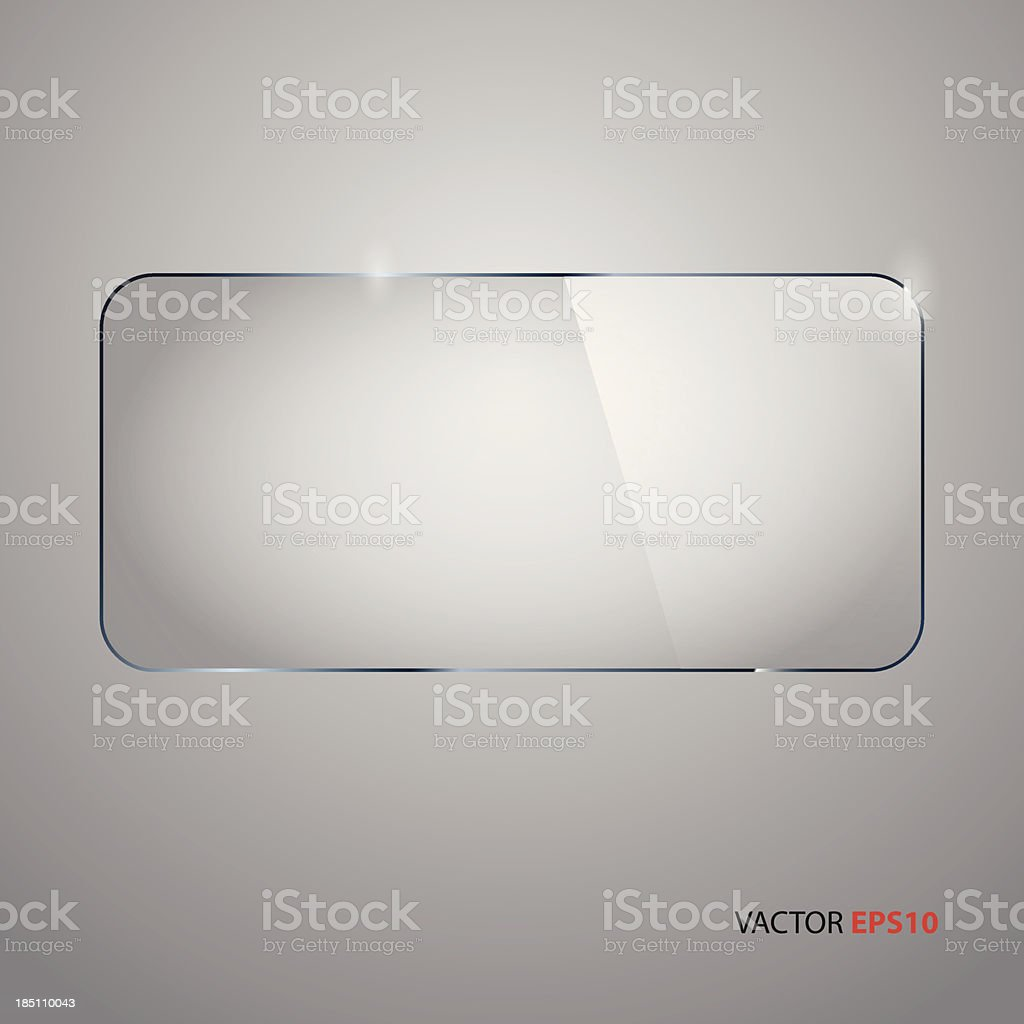 Upper view of rectangular glass frame vector art illustration