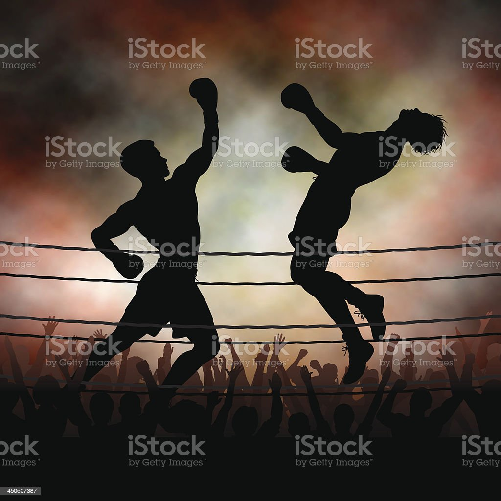 Uppercut vector art illustration