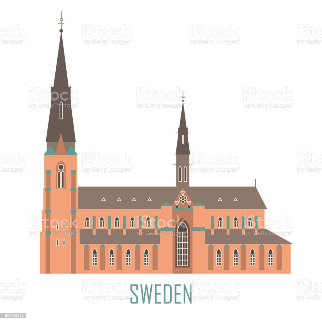 Uppsala Cathedral in Sweden royalty-free uppsala cathedral in sweden stock vector art & more images of abstract