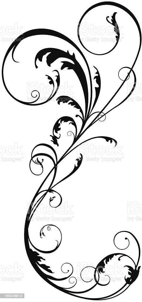 Upright Floral royalty-free stock vector art