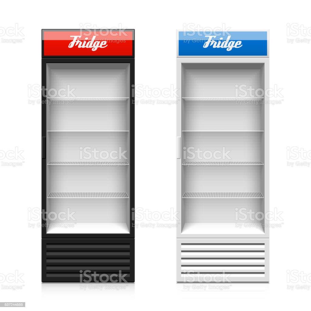 Vidro Porta Ver Ao Frigor Fico Vertical Arte Vetorial De Stock E