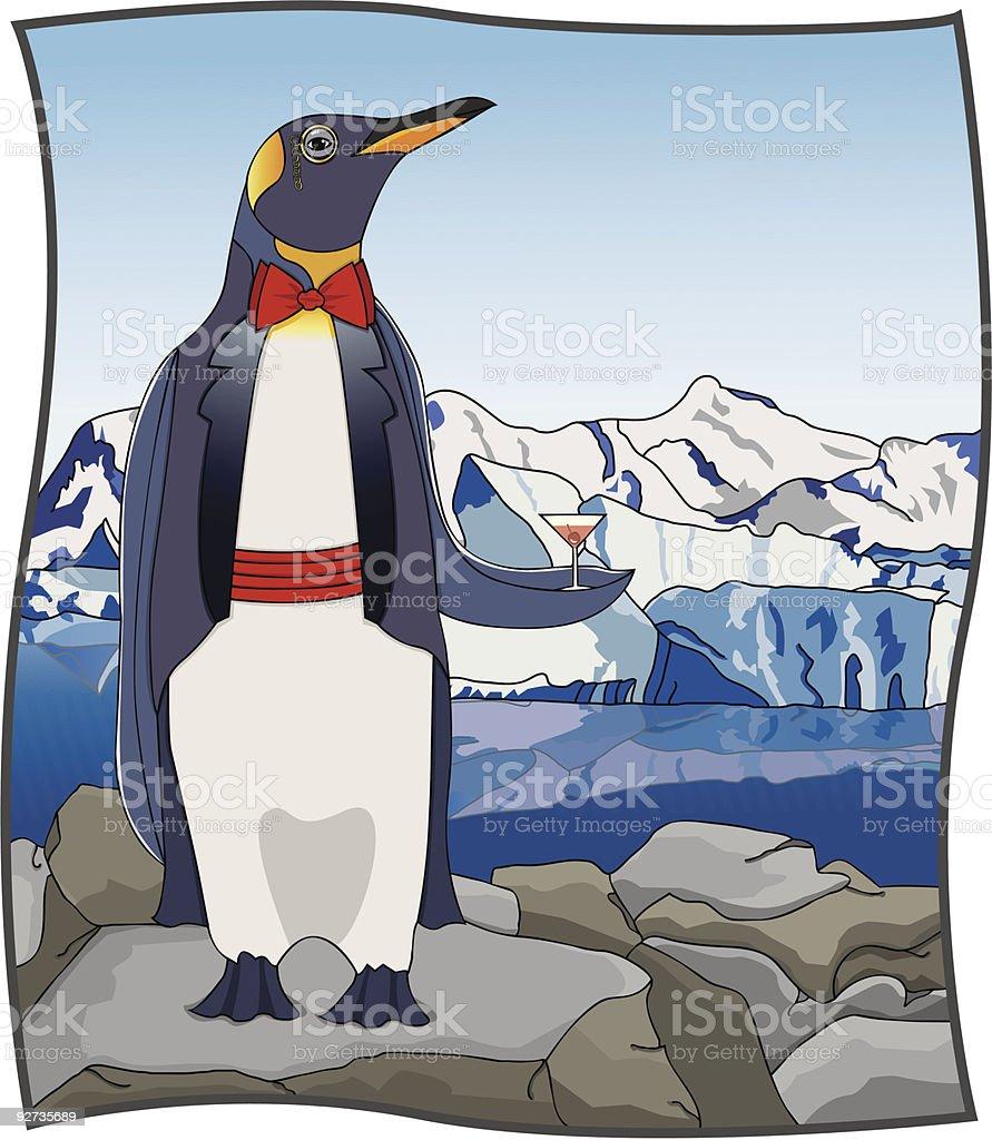 Upscale Penguin royalty-free stock vector art