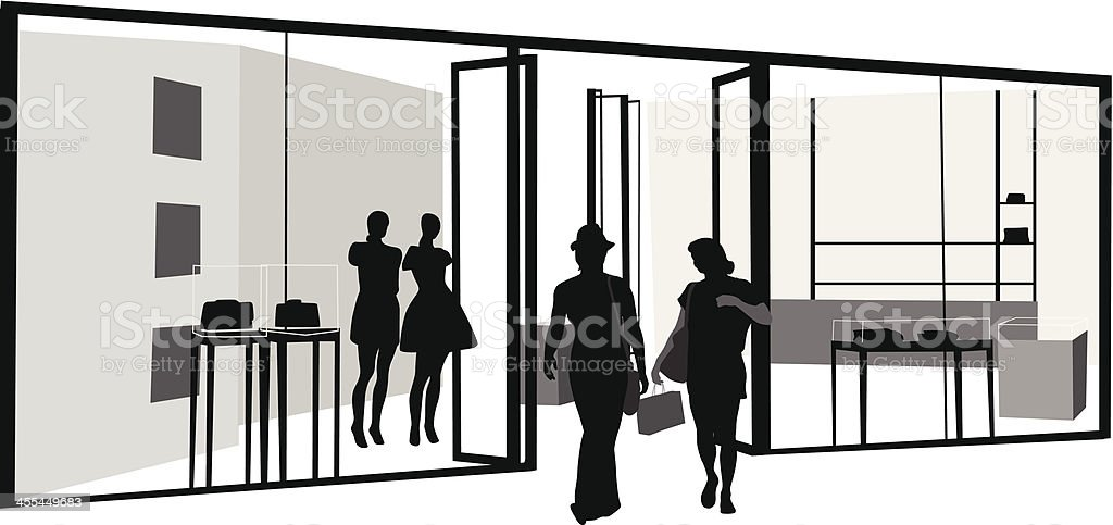 Upscale Retail royalty-free stock vector art