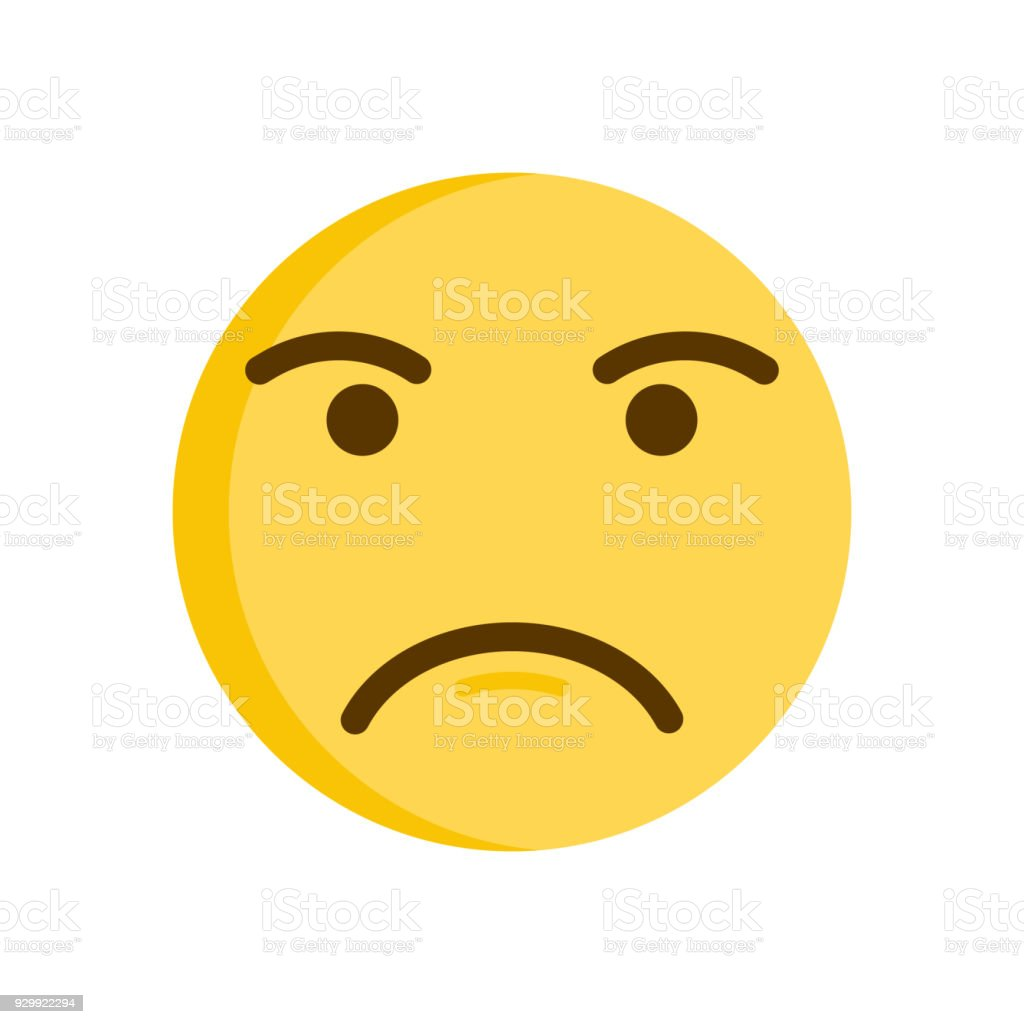 Upset emoticon. Vector emoji smiley icon illustration vector art illustration