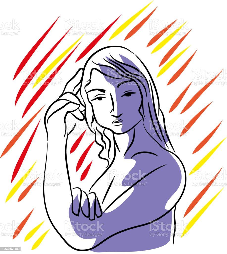 Kadın. vektör sanat illüstrasyonu