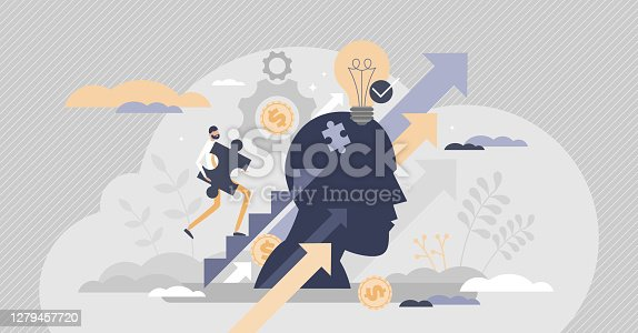 istock Upskilling learn as work educational qualification rise tiny person concept 1279457720