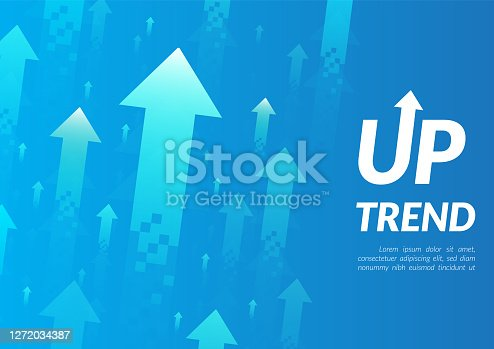 istock Uptrend abstract background. 1272034387