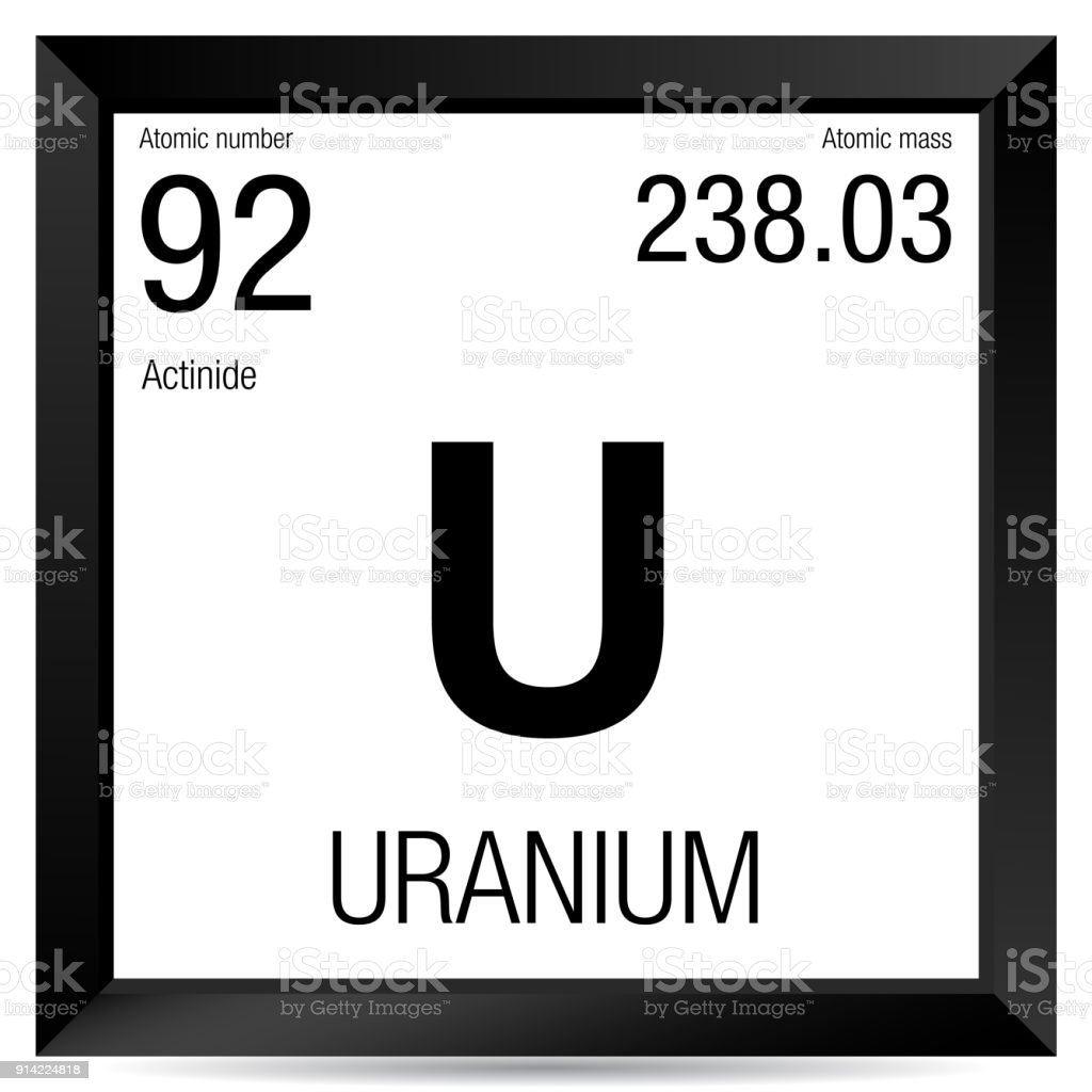 Uranium symbol element number 92 of the periodic table of the uranium symbol element number 92 of the periodic table of the elements chemistry royalty urtaz Choice Image