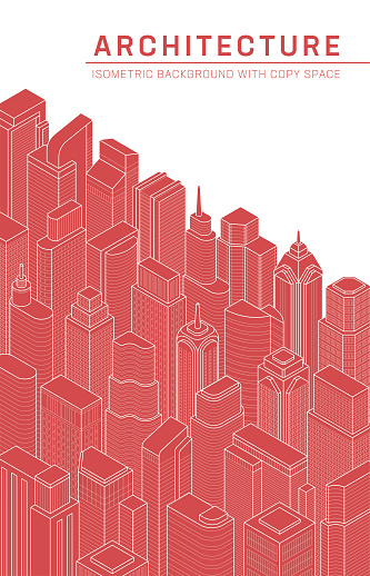 Urban Background Isometric Buildings Skyscrapers Skyline Downtown Metropolis Architecture Real Estate