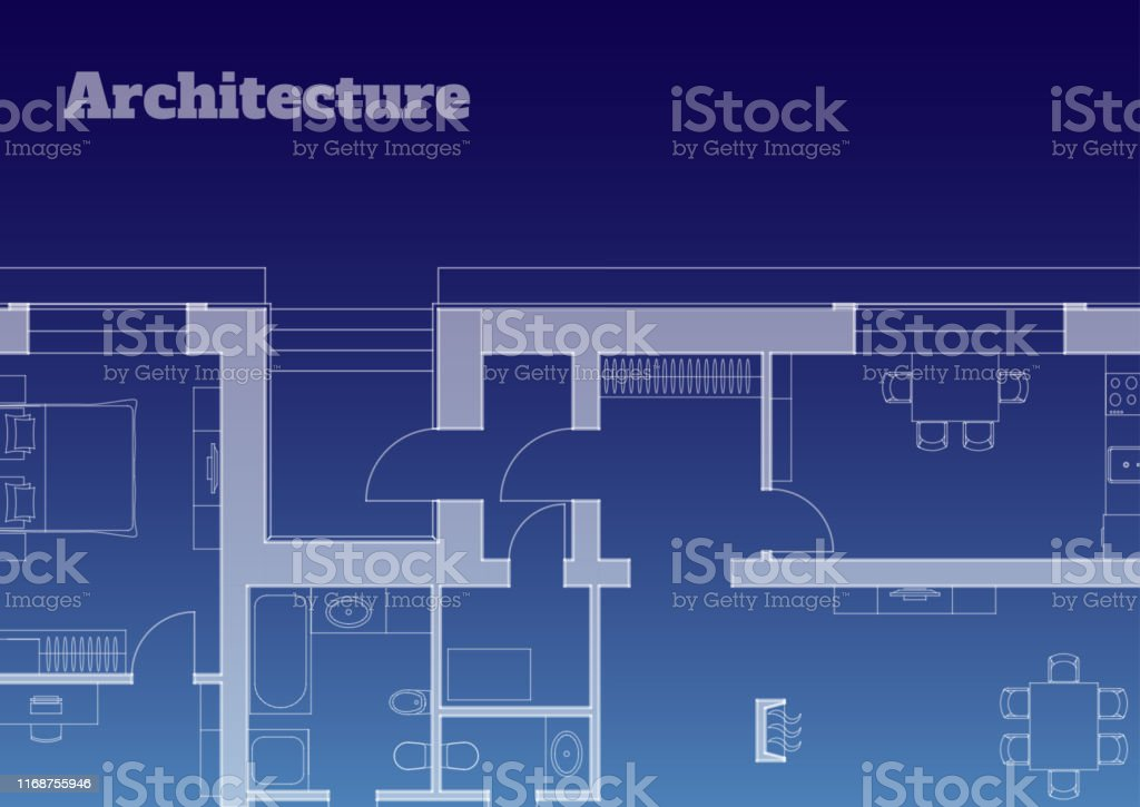 Urban background. Part of architectural project, architectural plan...