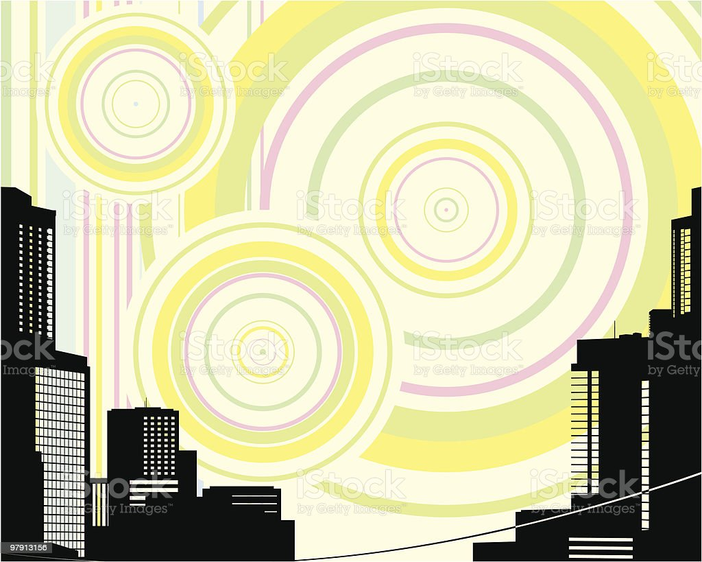 Urban background. Vector Illustration royalty-free urban background vector illustration stock vector art & more images of 1960-1969