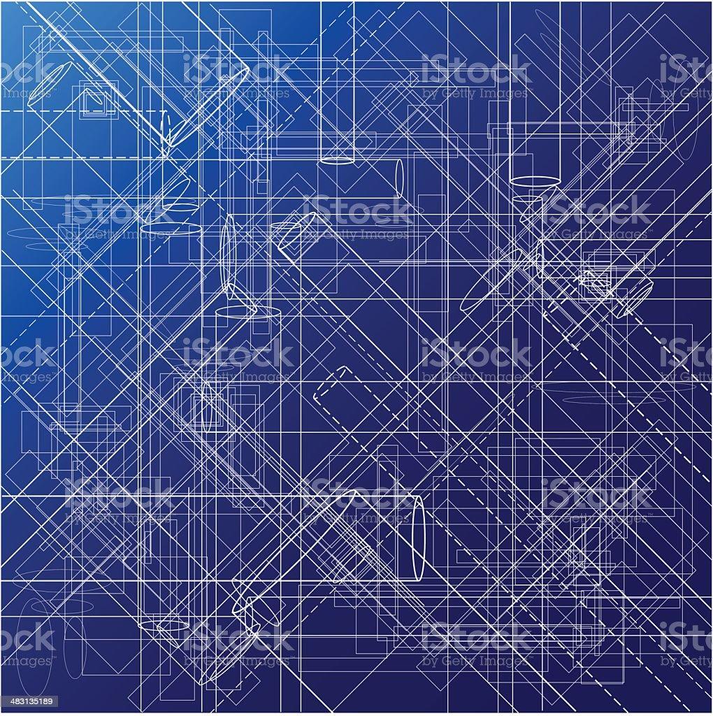 Urban Blueprint [vector] vector art illustration