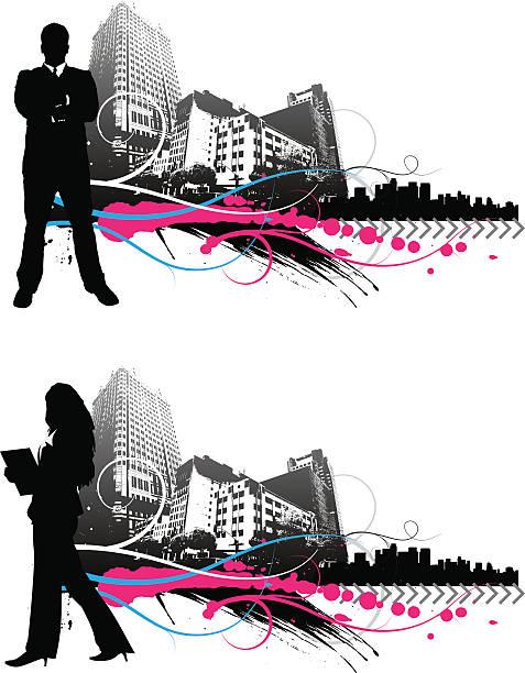 Miejski Ludzie biznesu – artystyczna grafika wektorowa