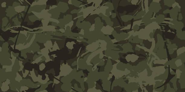 城市偽裝, 現代時裝設計。卡莫軍事保護。軍裝格朗格圖案。綠色和粗壯的遮陽色, 時尚, 面料。向量無縫紋理。 - 偽裝 幅插畫檔、美工圖案、卡通及圖標