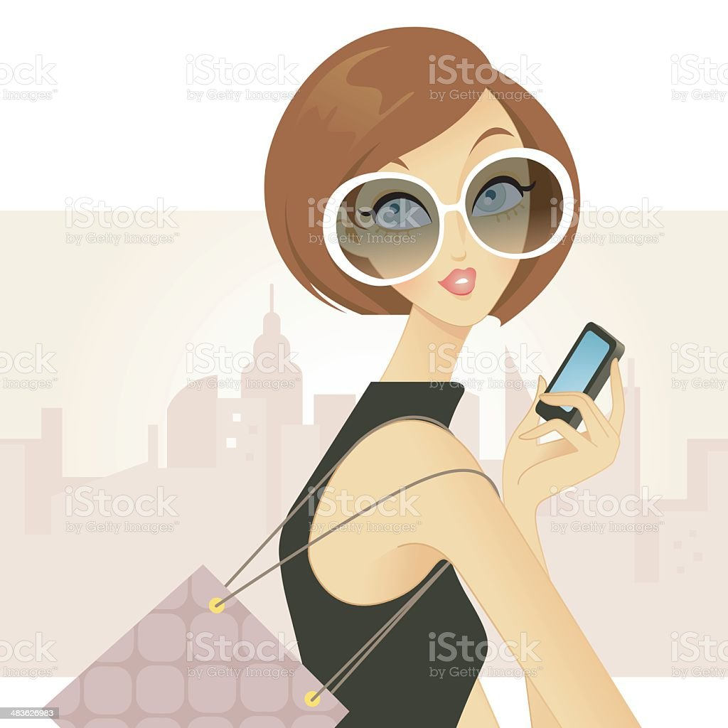 Urban Chic royalty-free stock vector art