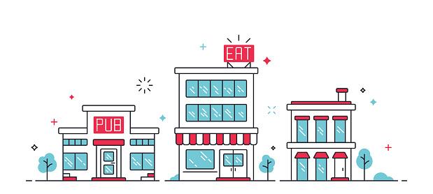 Urban City Buildings - Stockowe grafiki wektorowe i więcej obrazów Architektura
