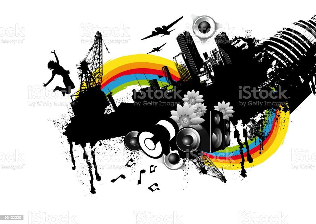 Urban City Elements royalty-free stock vector art