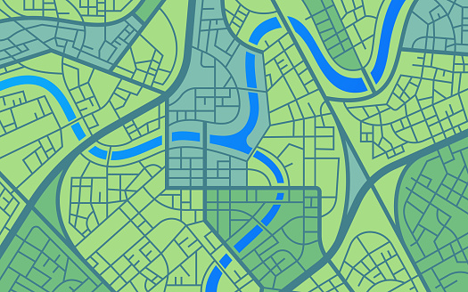 Urban City Map Road Network Abstract Background