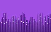 Urban city skyline abstract border design element.