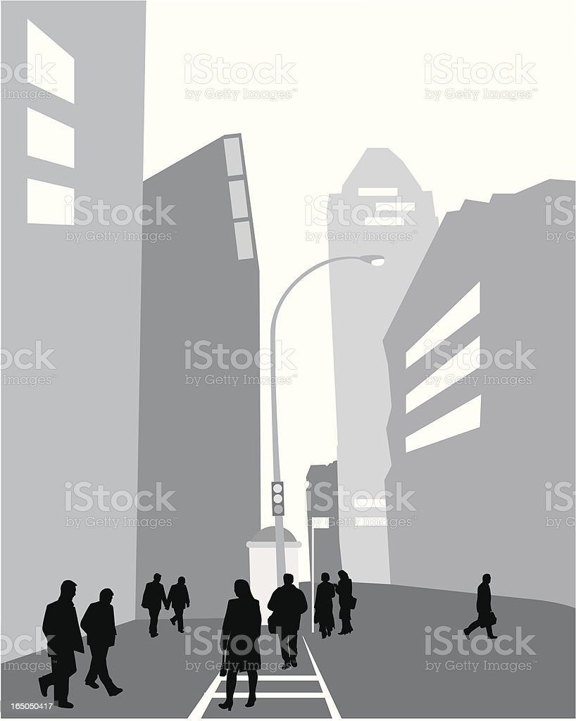 Urban Clutter Vector Silhouette royalty-free stock vector art