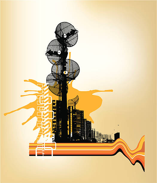 Best Grunge Radio Tower Illustrations, Royalty-Free Vector